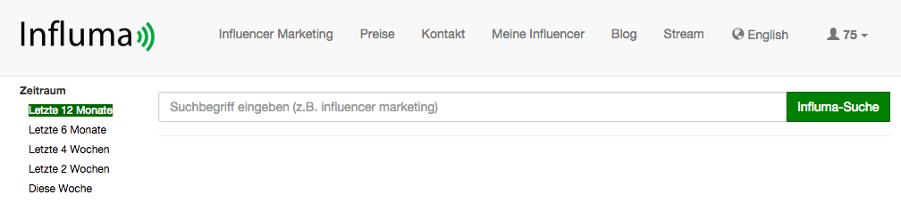 Influma - Tool für Content Marketing und Influencer Marketing