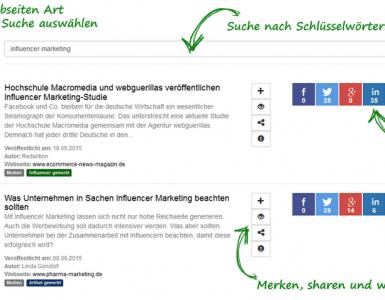 Influma - Suchmaschine für Influencer- und Content Marketing