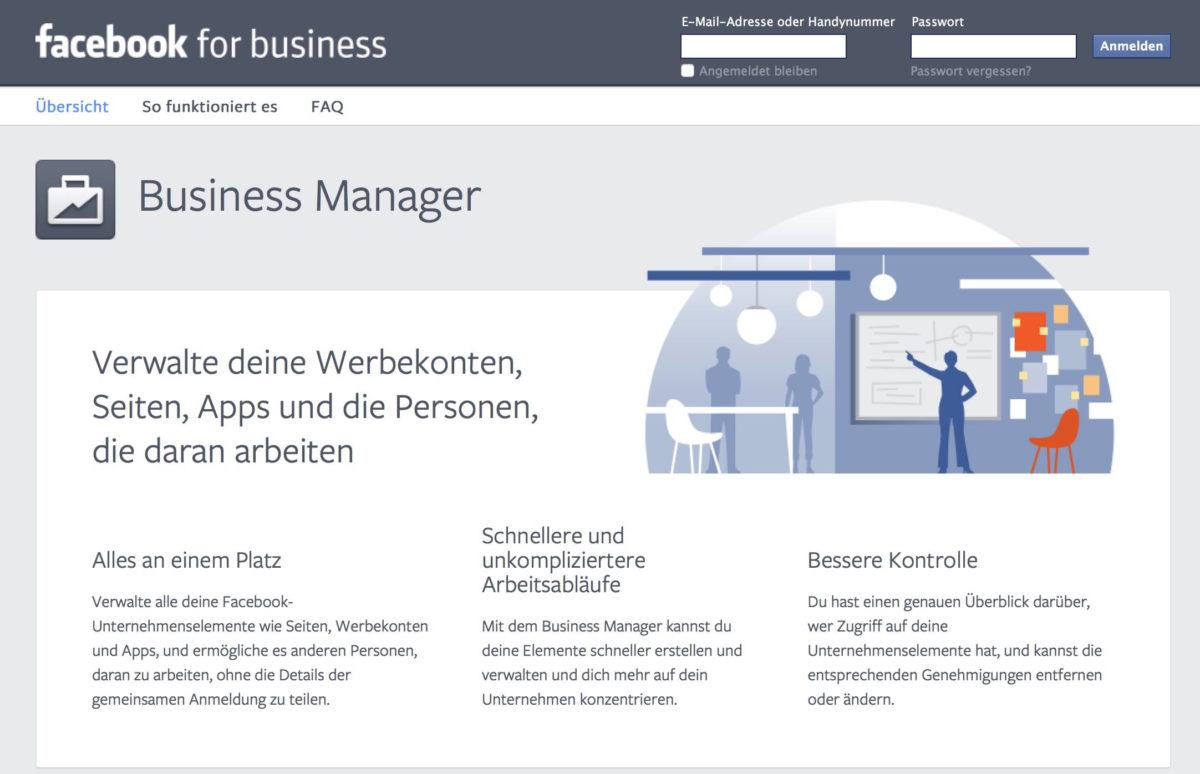 Facebook Business Manager los werden
