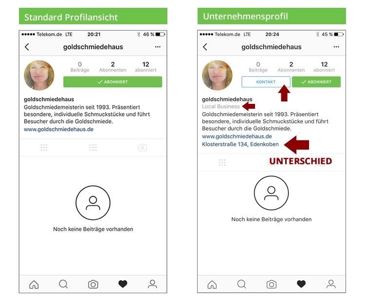 Instagram Profile im Vergleich